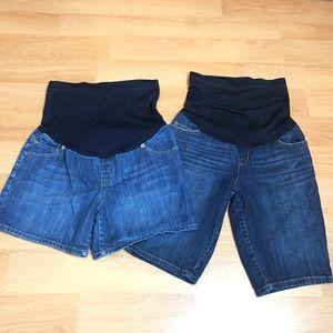 LIZ LANGE Maternity Jean Shorts Sz S XS